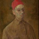 """Роберт Фальк """"Автопортрет в красной феске"""" 1957. Собрание: Государственная Третьяковская галерея. Предоставлено: Государственная Третьяковская галерея."""