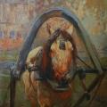 "41. Рубо Франц ""Ломовая лошадь. Этюд"" 1909 Картон, гуашь 55х50 Музей-панорама ""Бородинская битва"""