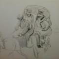 "55. Рубо Франц ""Не хочу Вас стеснять, Ф.А."" 1900-е Бумага, графитный карандаш 21,8х35,5 Музей-панорама ""Бородинская битва"""