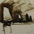 """57. Рубо Франц """"Парус"""" 1880-е Бумага, тушь 10,2х18,8 Музей-панорама """"Бородинская битва"""""""