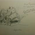 "65. Рубо Франц ""По дороге в Бородино"" 1910 Бумага, карандаш 20,2х29,5 Музей-панорама ""Бородинская битва"""