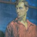 """1. Русаков Николай """"Автопортрет в красной рубахе"""" 1935 Холст, масло 74х56 Челябинская картинная галерея"""