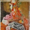 """3. Русаков Николай """"Натюрморт с цветами в корзиночке"""" 1911 Холст, масло 66х50 Собрание семьи художника"""
