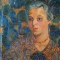 """16. Русаков Николай """"Портрет жены"""" 1915 Холст, масло 50х43 Собрание семьи художника"""