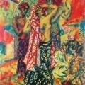 """19. Русаков Николай """"Баядерки танцуют"""" 1917 Бумага, акварель 40,5х26 Челябинская картинная галерея"""