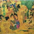 """20. Русаков Николай """"Гейши из Киото"""" 1915 Бумага, масло, бронза 35,4х42,2 Челябинская картинная галерея"""