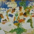 """28. Русаков Николай """"Гейши"""" 1915 Бумага, акварель 26х19,5 Собрание семьи художника"""