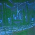 """35. Русаков Николай """"Восточный ночной пейзаж"""" 1920-е Холст, масло 43х41 Собрание семьи художника"""