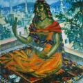 """36. Русаков Николай """"Индия. Гадалка из Кашмирской долины"""" 1924 Холст, масло 65х51 Собрание семьи художника"""
