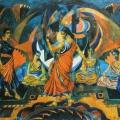 """42. Русаков Николай """"Танец"""" 1920-е Бумага, акварель, лак 34,5х51,5 Собрание семьи художника"""