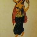 """49. Русаков Николай """"Багдад. Алмея"""" 1923 Бумага, акварель, лак 32,4х24 Челябинская картинная галерея"""