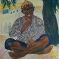 """52. Русаков Николай """"Багдад. Утренний кейф. Омар-Али садовник"""" 1926 Бумага, акварель 32,5х25,3 Челябинская картинная галерея"""
