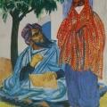 """54. Русаков Николай """"Багдад. Уличный писец"""" 1926 Бумага, акварель 32,5х25,3 Челябинская картинная галерея"""