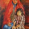 """61. Русаков Николай """"Башкирка с девочкой"""" 1937 Холст, масло 120х100 Челябинская картинная галерея"""