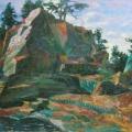 """64. Русаков Николай """"Скала"""" 1936 Холст, масло 55х69 Собрание семьи художника"""
