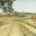 Андрей Рябушкин «Возвращение с ярмарки» 1886 Государственная Третьяковская галерея.