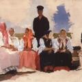 Андрей Рябушкин «Воскресенье в деревне. Этюд для неосуществлённой картины» 1892 Государственный Русский музей.