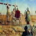 Андрей Рябушкин «Снятие с креста (Голгофа)» 1890 Государственная Третьяковская галерея.