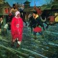 Андрей Рябушкин «Московская улица XVII века в праздничный день» 1895 Государственный Русский музей.