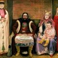 Андрей Рябушкин «Семья купца в ХVII веке» 1896 Государственный Русский музей.
