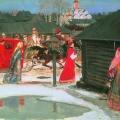 Андрей Рябушкин «Свадебный поезд в Москве (XVII столетие)» 1901 Государственная Третьяковская галерея.