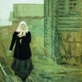 Андрей Рябушкин «К обедне» 1903 Государственная Третьяковская галерея.