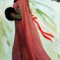 Андрей Рябушкин «Московская девушка XVII века (В праздничный день)» 1903 Государственный Русский музей.
