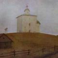 Андрей Рябушкин «Новгородская церковь» 1903 Государственный Русский музей.