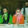 Андрей Рябушкин «Чаепитие» 1903 Частное собрание, Москва.
