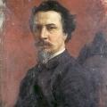 """1. Семирадский Генрих """"Автопортрет (не окончен)"""" 1876 Национальный музей, Краков"""