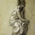 """12. Семирадский Генрих """"Натурщица. Этюд"""" 1882 Государственный Русский музей"""