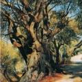 """13. Семирадский Генрих """" Дорога из Рима в Альбано """" 1873 Тверская областная картинная галерея"""