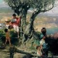 """15. Семирадский Генрих """"Рим. Деревня. За водой"""" Конец 1880-х Омский музей изобразительных искусств"""