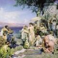 3.  Семирадский Генрих «Фрина на празднике Посейдона в Элевзине»  1889  Государственный Русский музей