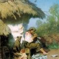 """35. Семирадский Генрих """"Сельская идиллия"""" 1886(?) Львовская картинная галерея"""