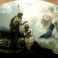"""42. Семирадский Генрих """"Крещение Господне. Эскиз росписи храма Христа Спасителя в Москве"""" 1879 Государственный Русский музей"""