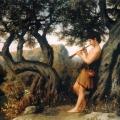 """46. Семирадский Генрих """"Пастушок, играющий на свирели"""" Частное собрание"""
