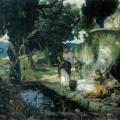 """56. Семирадский Генрих """"Сцена у колодца"""" 1890 Львовская картинная галерея"""