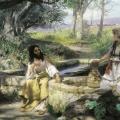 8.  Семирадский Генрих «Христос и самаритянка»  1890  Львовская картинная галерея