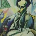 """1. Штеренберг Давид """"Автопортрет"""" 1915 Холст, масло 70х63 Из собрания семьи художника"""