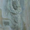 """100. Штеренберг Давид """"Мария в шубе"""" 1930-е Картон, масло 32х19 Из собрания семьи художника"""