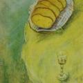 "105. Штеренберг Давид ""Хлеб и рюмка"" 1939 Холст, масло 69х49 Из собрания семьи художника"