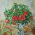 """109. Штеренберг Давид """"Дикие розы"""" 1939 Холст, масло 44,5х35 Из собрания семьи художника"""