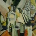 "22. Штеренберг Давид ""Стол художника"" 1916 Картон, масло 40,5х33 Из собрания семьи художника"