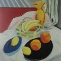 """24. Штеренберг Давид """"Бананы и апельсины"""" 1913-1914 Холст, масло 65х53 Из собрания Е.Сидоровой-Векслер"""