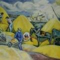 """31. Штеренберг Давид """"В порту"""" 1914 Холст, масло 97х129,5 Из собрания семьи художника"""