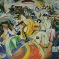 "33. Штеренберг Давид ""Бал в Бюиллье"" 1013-1914 Холст, масло 88х116 Из собрания семьи художника"