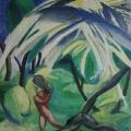 "38. Штеренберг Давид ""Дровосек"" 1907-1910 Картон, масло 60х57 Из собрания Г.Ф.Захарова"