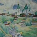 "39. Штеренберг Давид ""У реки. Житомир"" 1914 Холст, масло 116х73 Из собрания семьи художника"