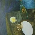 "54. Штеренберг Давид ""Натюрморт"" 1919 Картон, масло 54,5х46 Из собрания семьи художника"